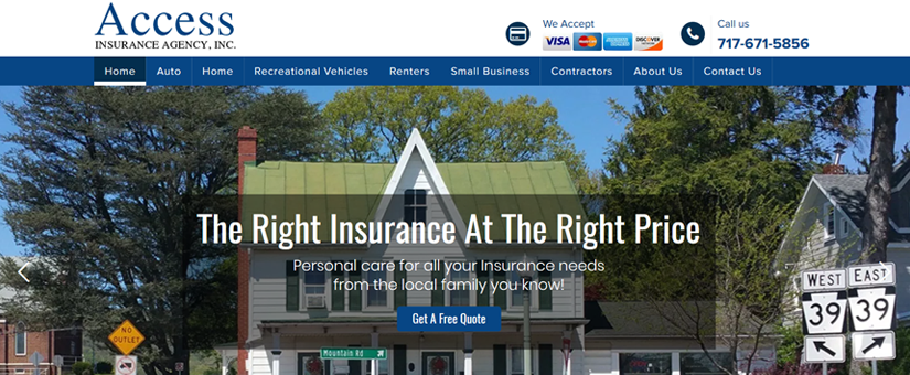 Access Insurance Agency Website Design