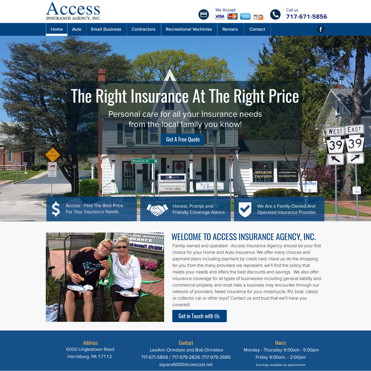 Access Insurance - Insurance company website design