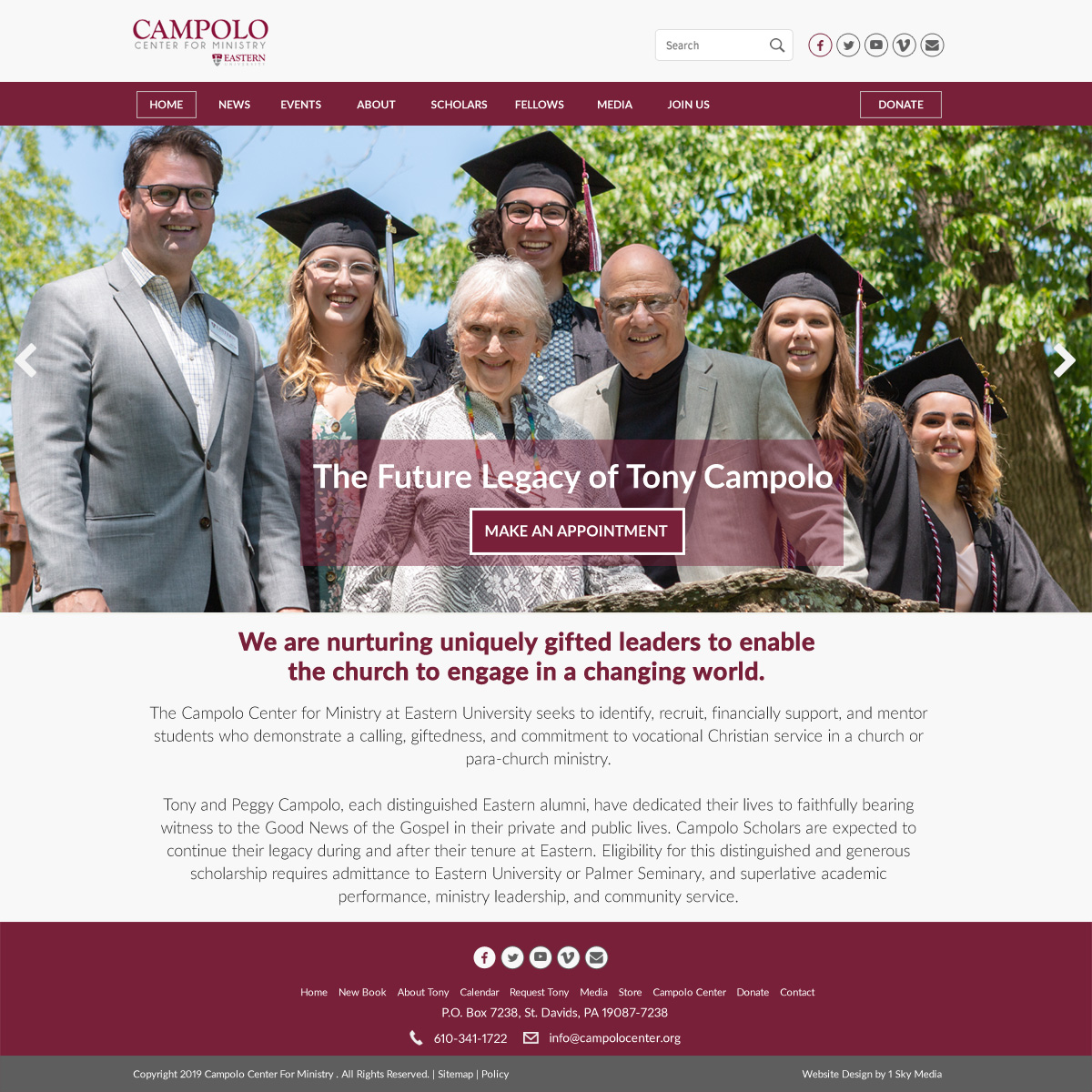 Campolo center - College website design
