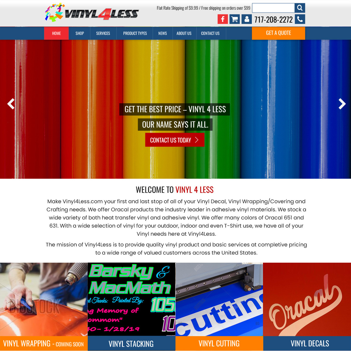 Vinyl 4 less craft vinyl website design