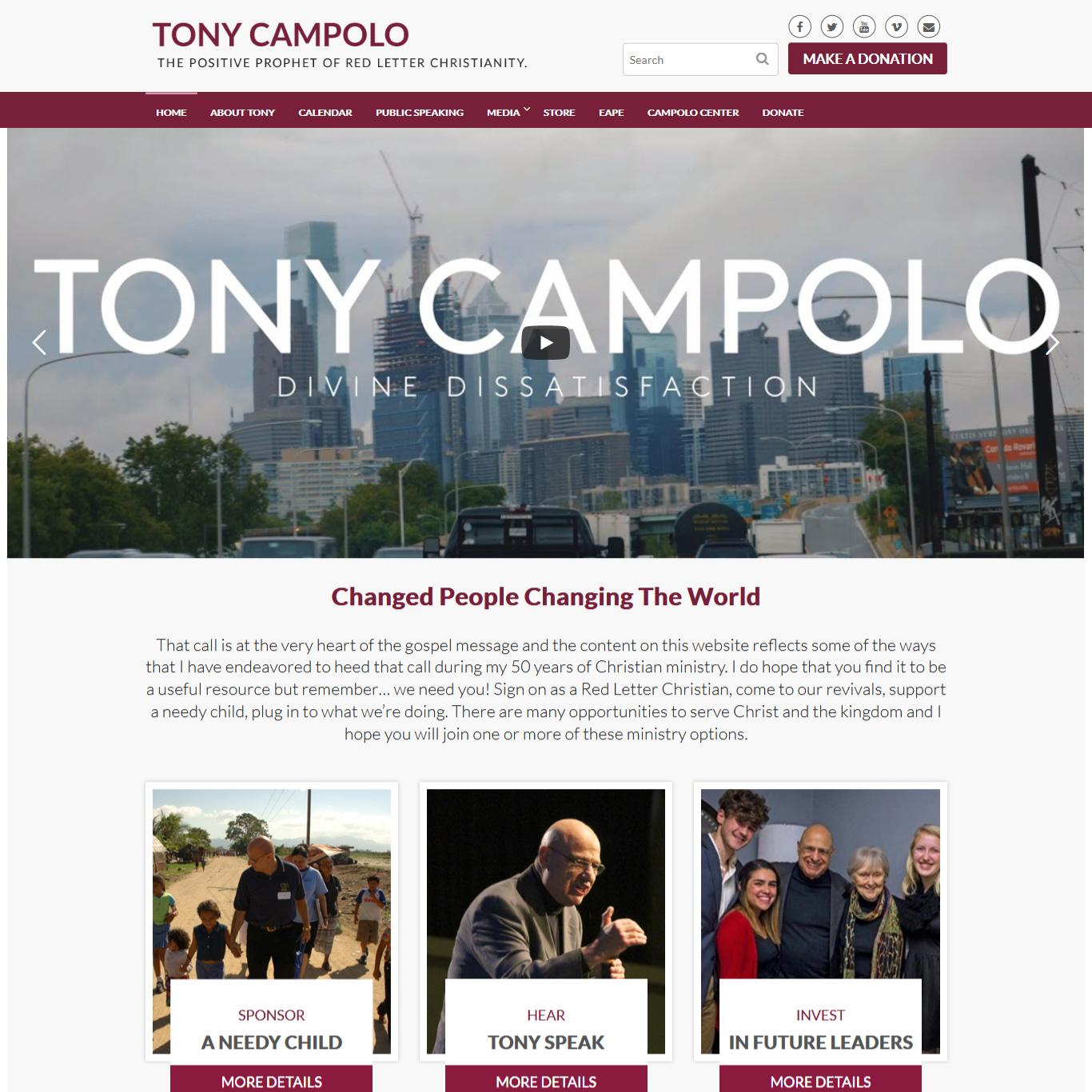 Tony Campolo Christian educator Tony Campolo