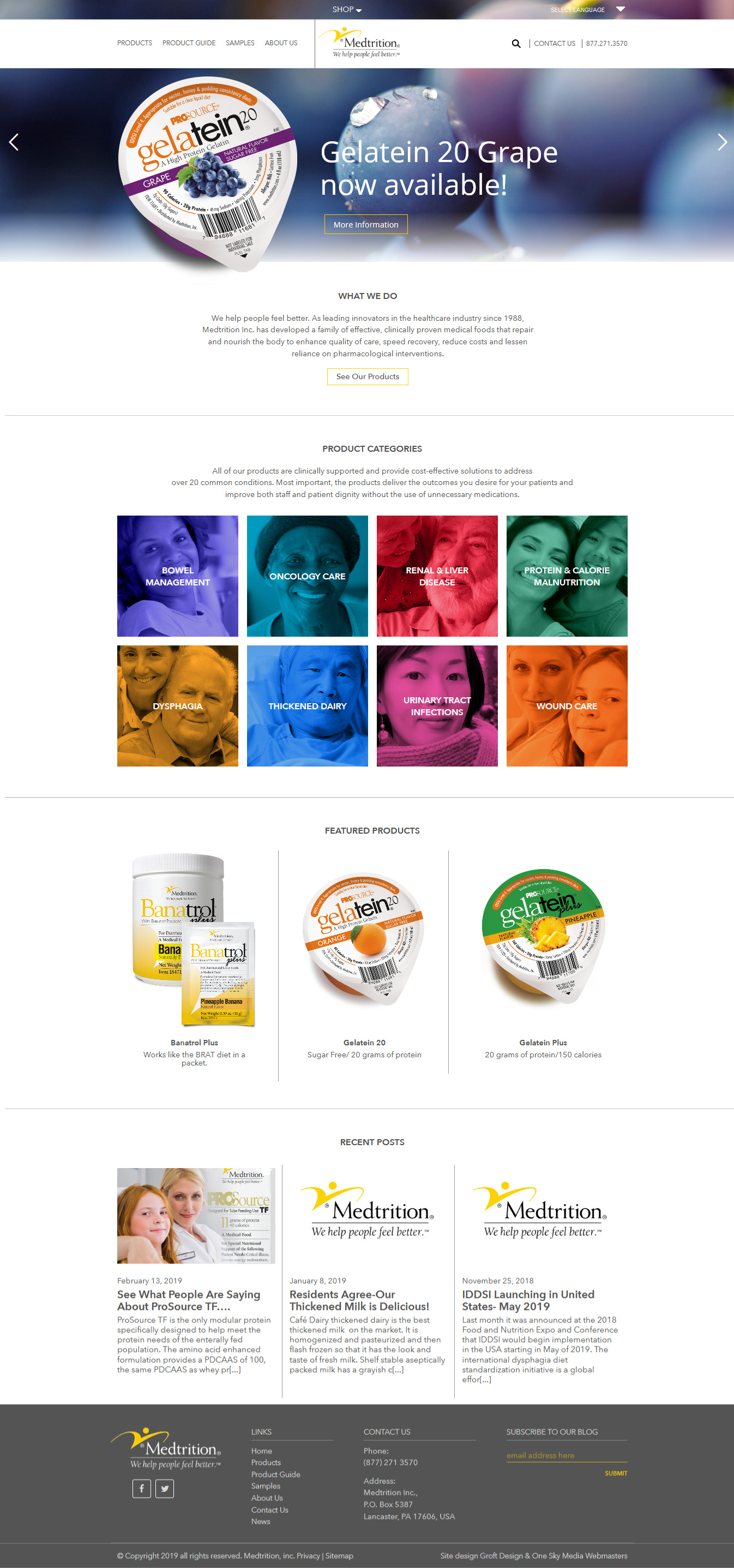Medtrition medical foods website design