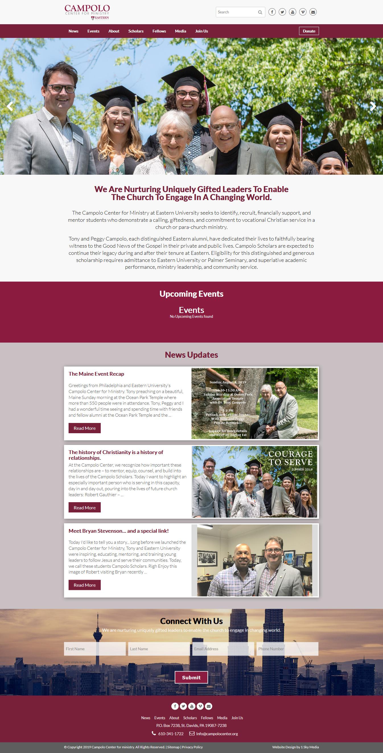 Campolo center - College website design