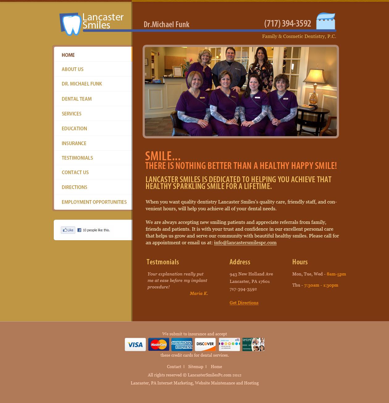 Lancaster Smiles Dental Practice Dentists Website Design