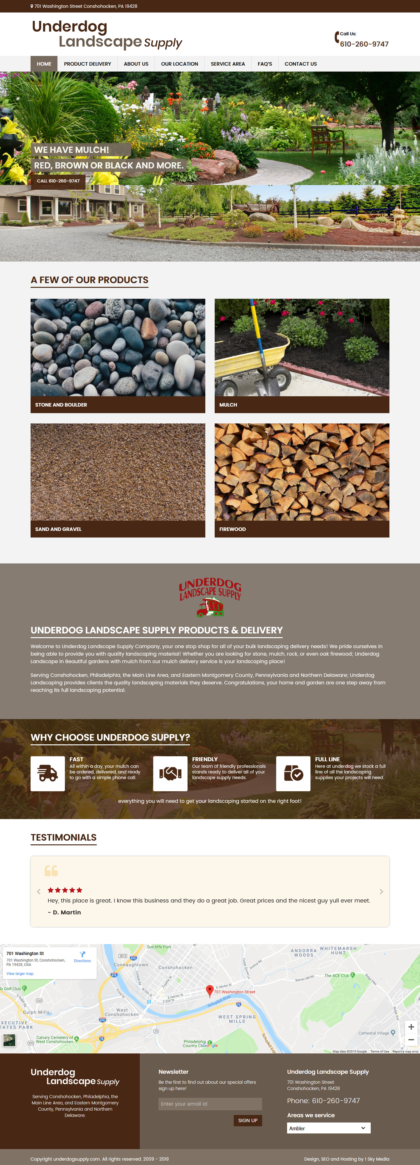Underdog supply Landscape supply website design