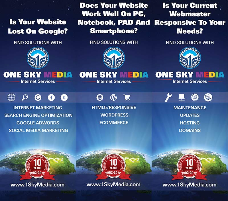 One Sky Media Internet Marketing Expo backdrop