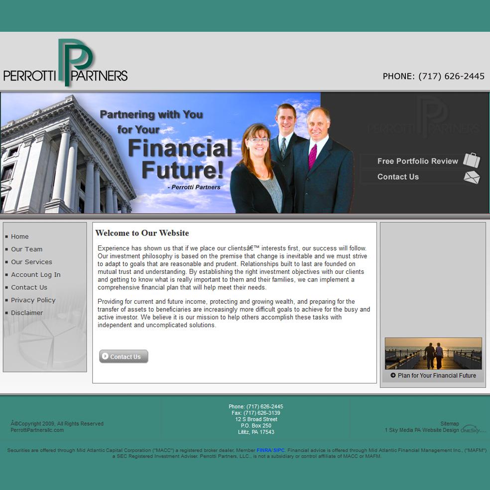 Perrotti Partners LLC - financial advisors website design