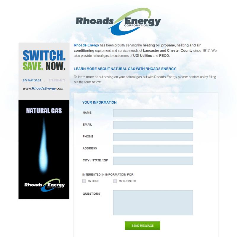 Rhoads Energy Oil & Gas Company - oil & gas company website design
