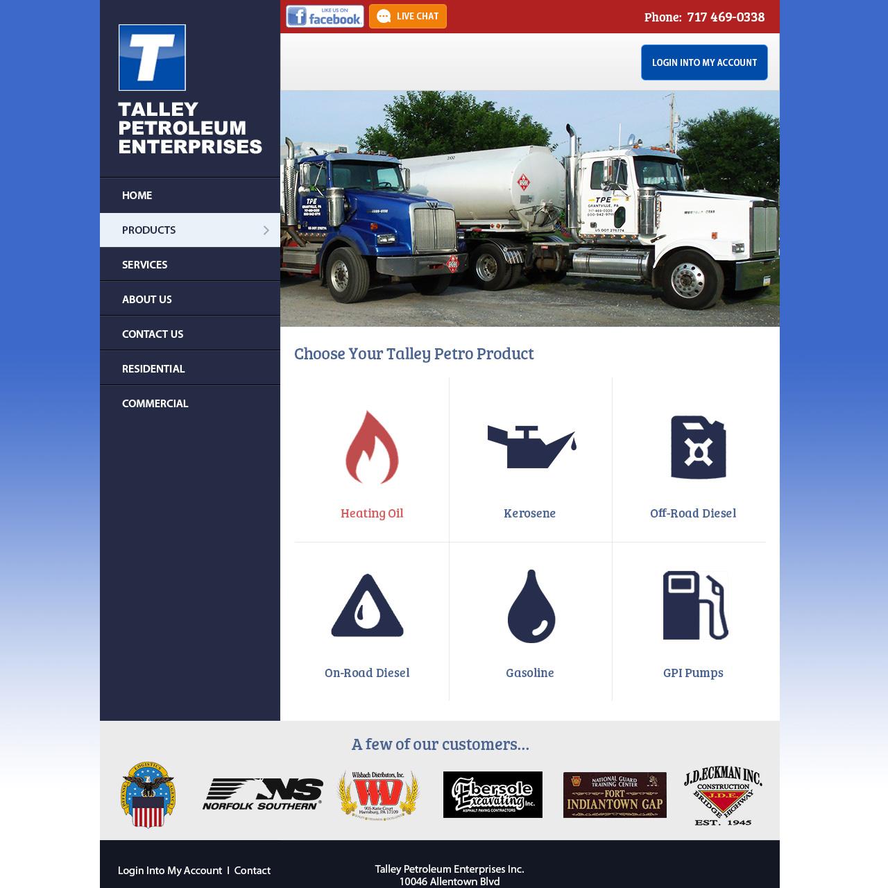 Talley Petroleum Enterprises Oil Company website design