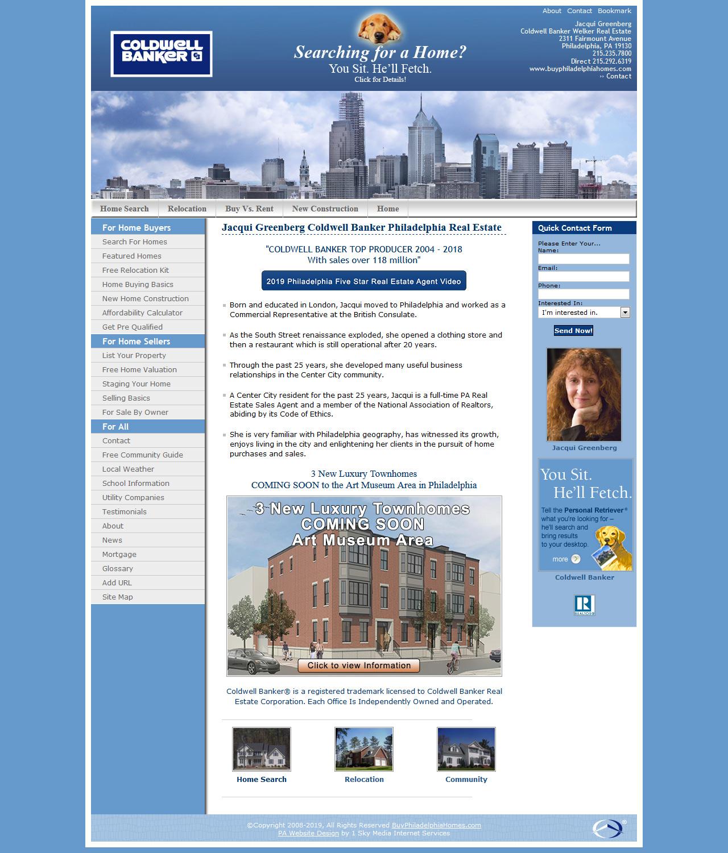 Jacqui Greenberg Coldwell Banker - real estate website design
