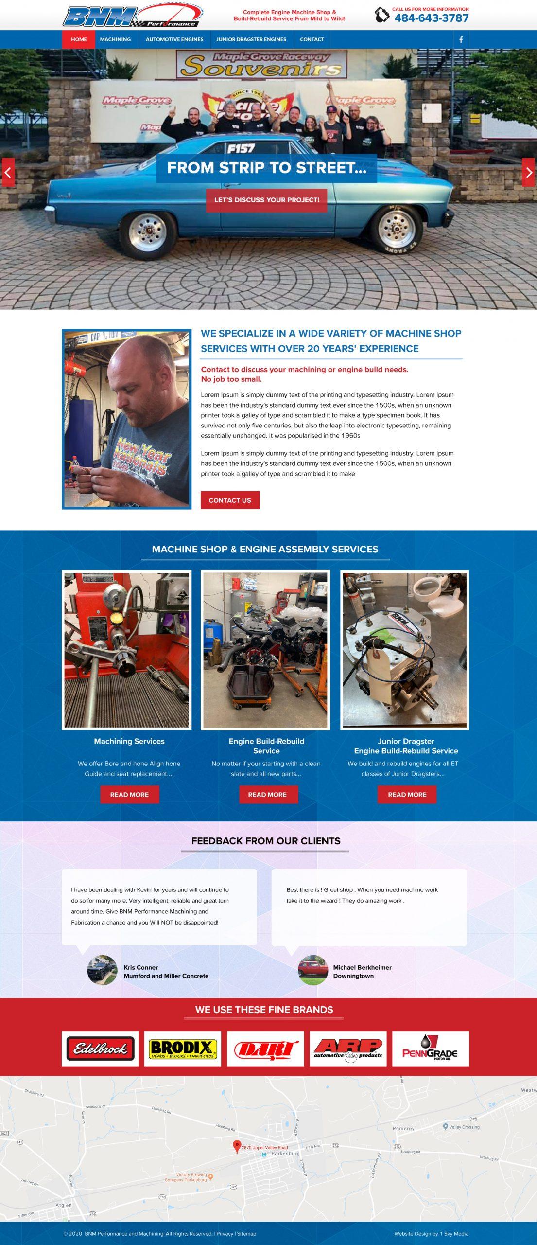 Machine Shop Website Design Website Design