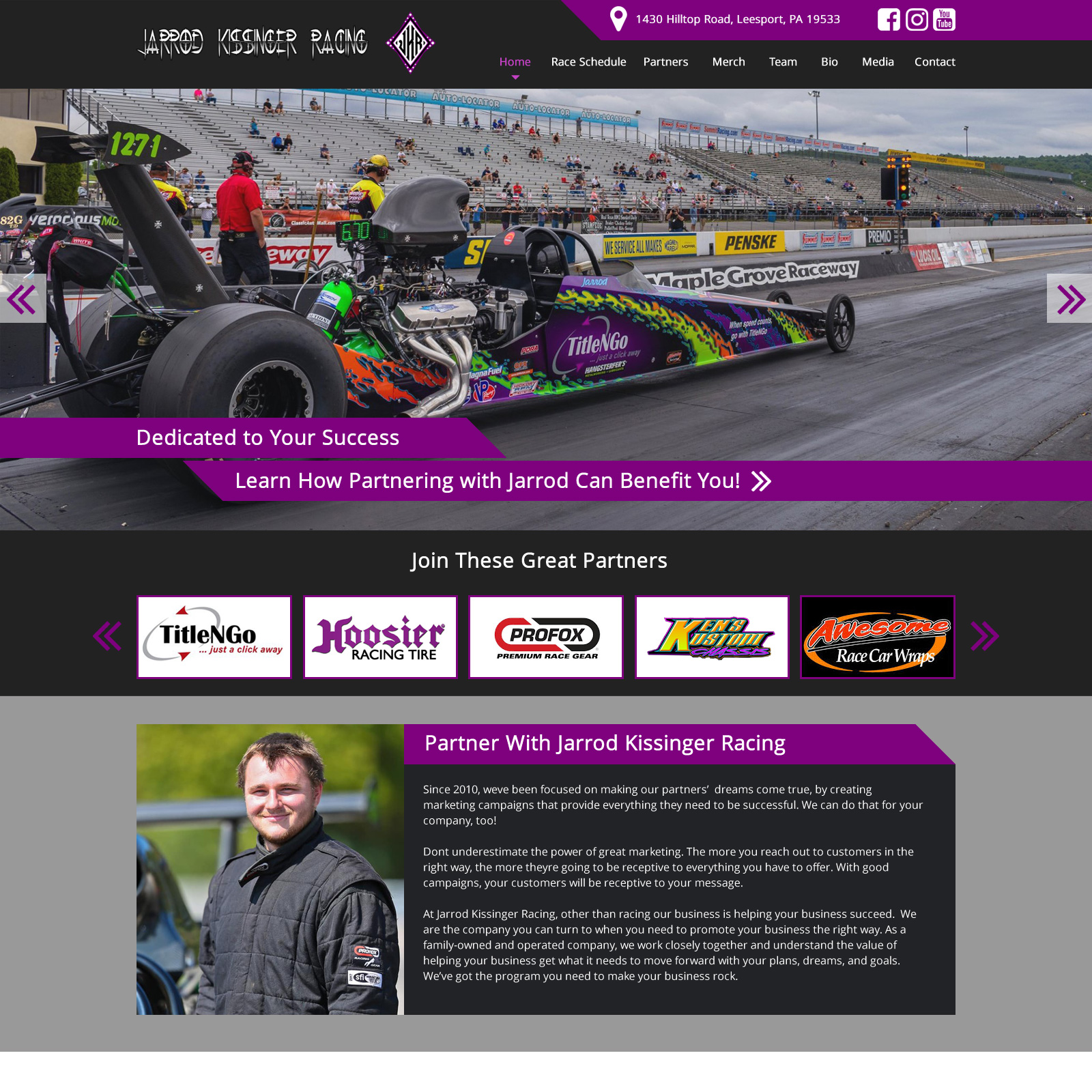 Drag Racing Website Design Website Design
