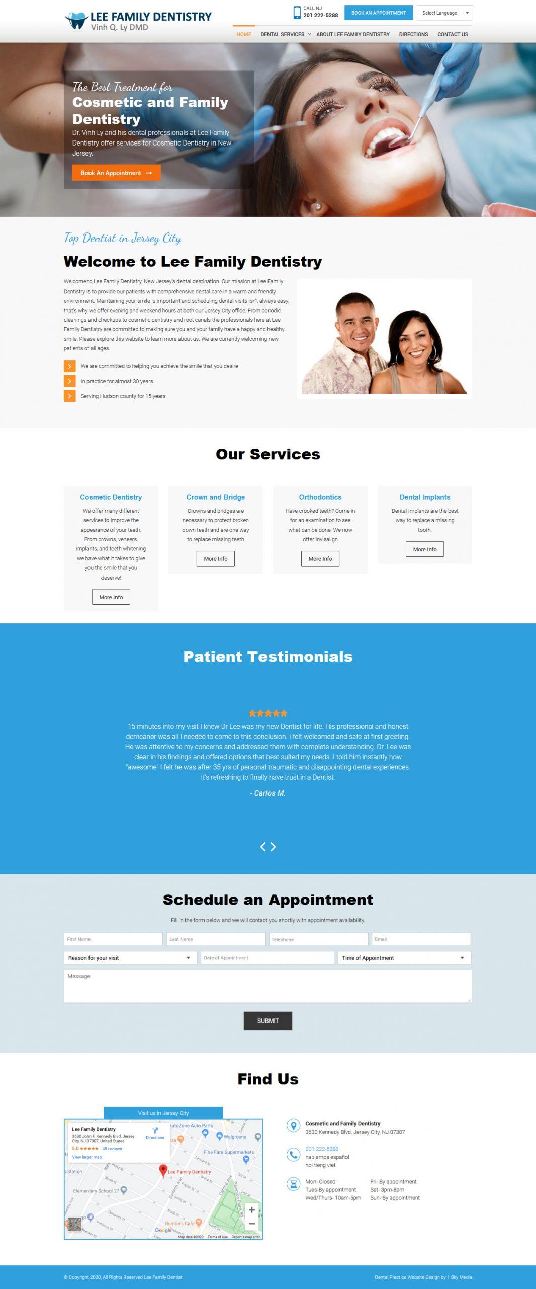 Jersey City Dental Website Website Design