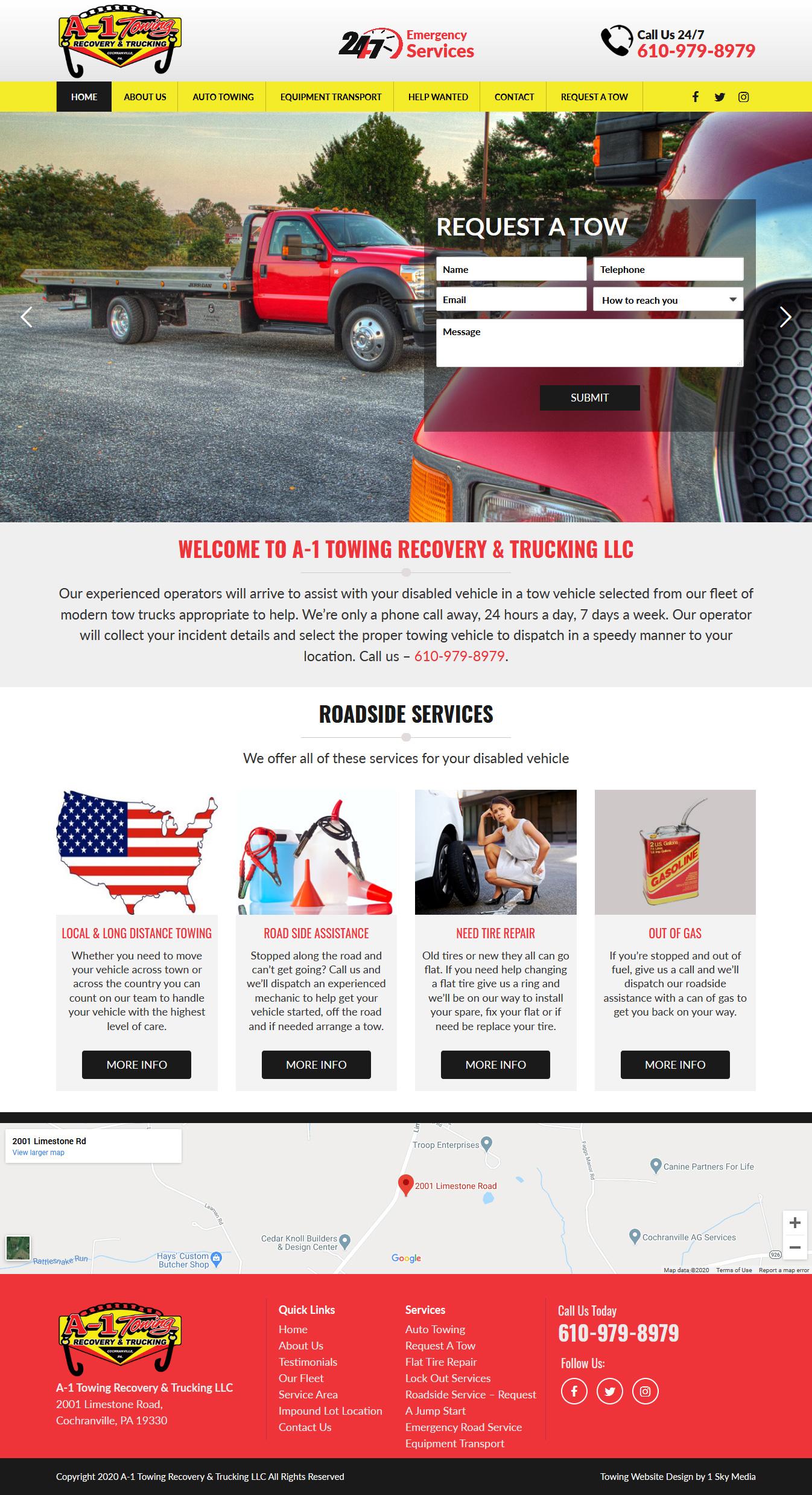 A1 Towing Website Design Website Design
