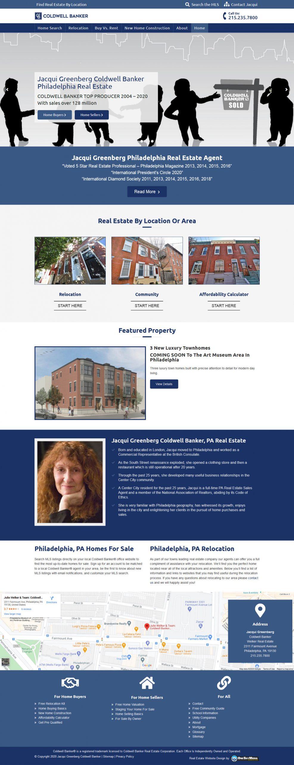 Coldwell Banker Real Estate Website Design