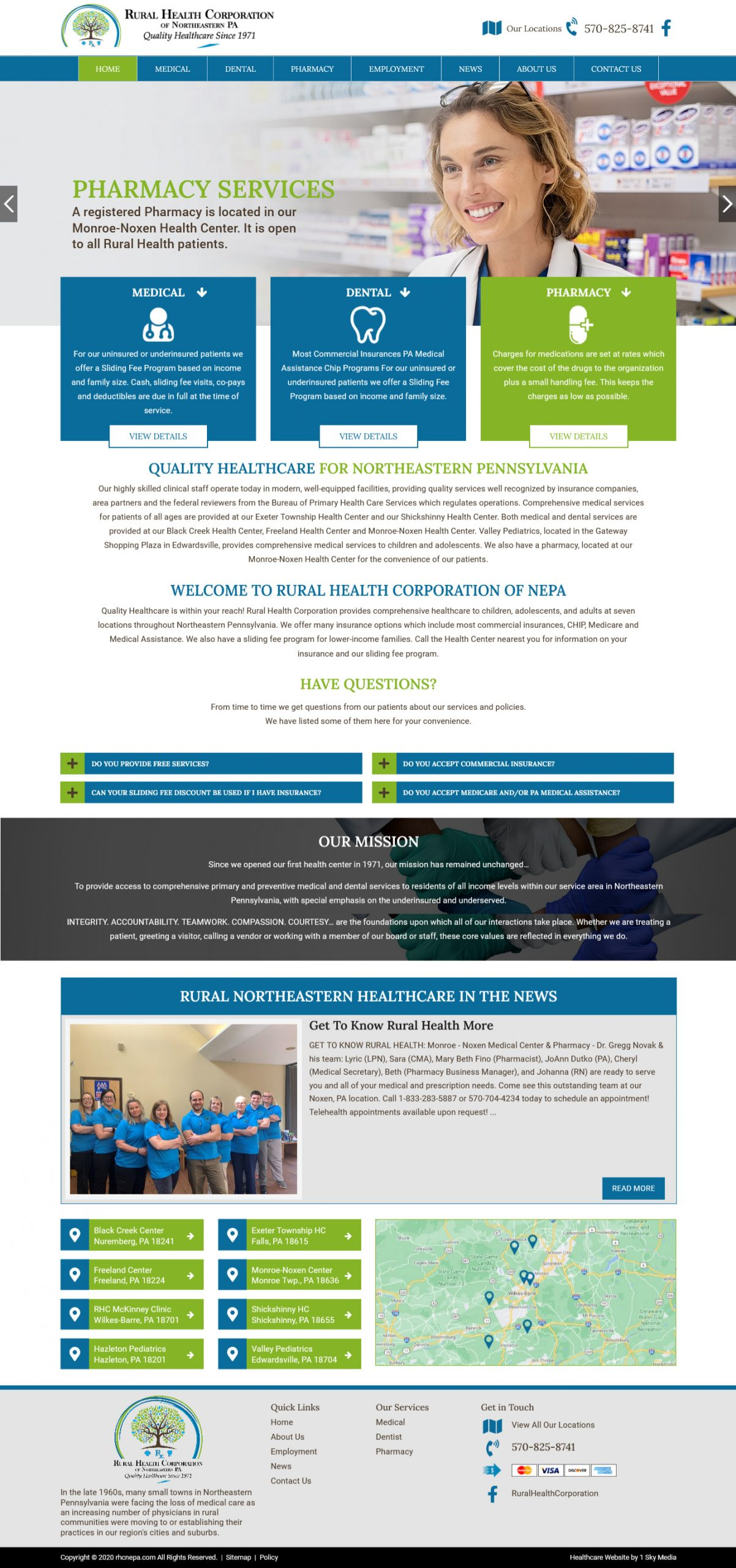 Rural Health Corporation Website Design
