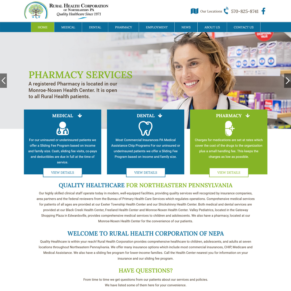 Rural Health Corporation Website Design