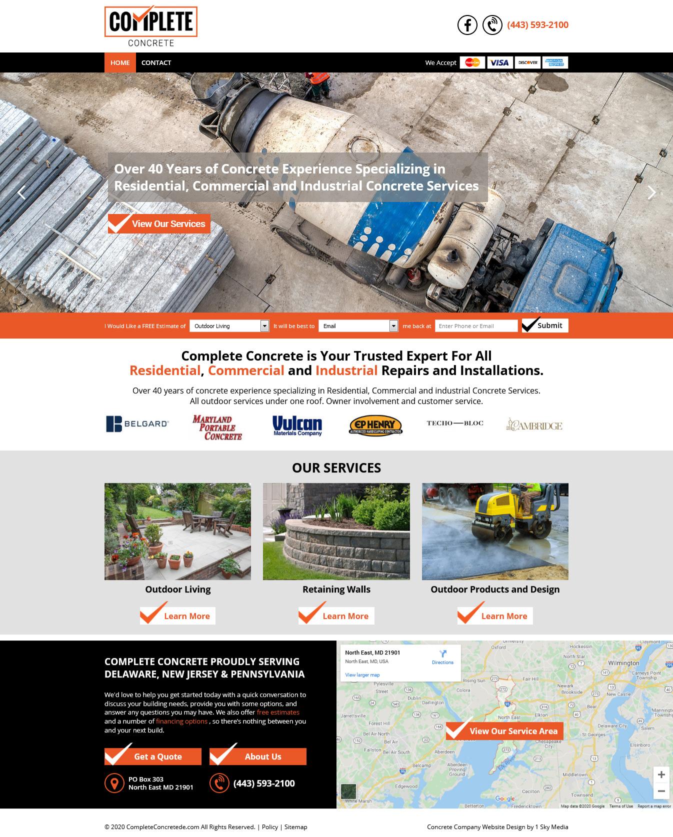 Complete Concrete Website Design
