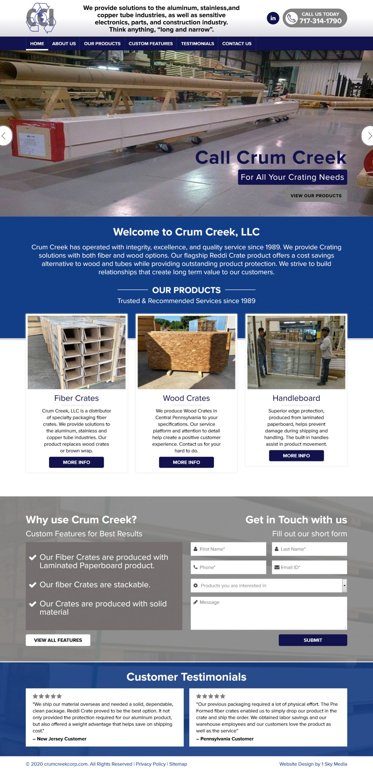 Crum Creek Website Design