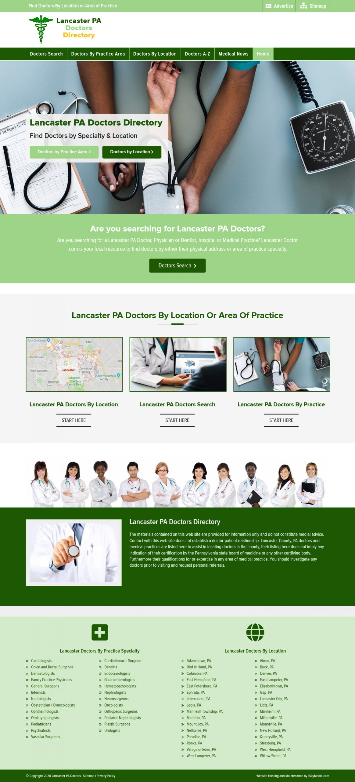 Lancaster PA Doctors Directory Website Design