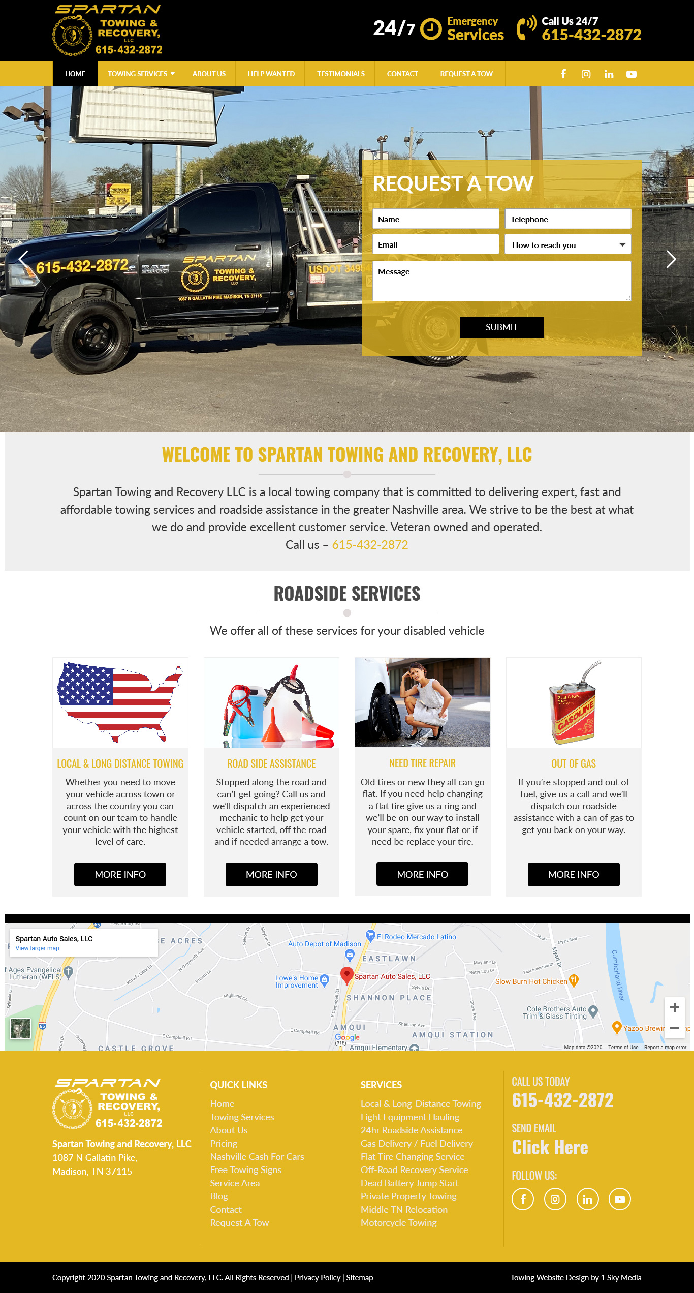 Spartan Towing and Recovery Website Design