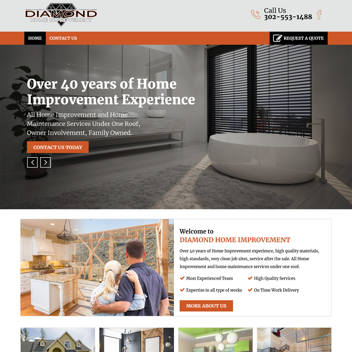 Diamond Home Improvement Website Design