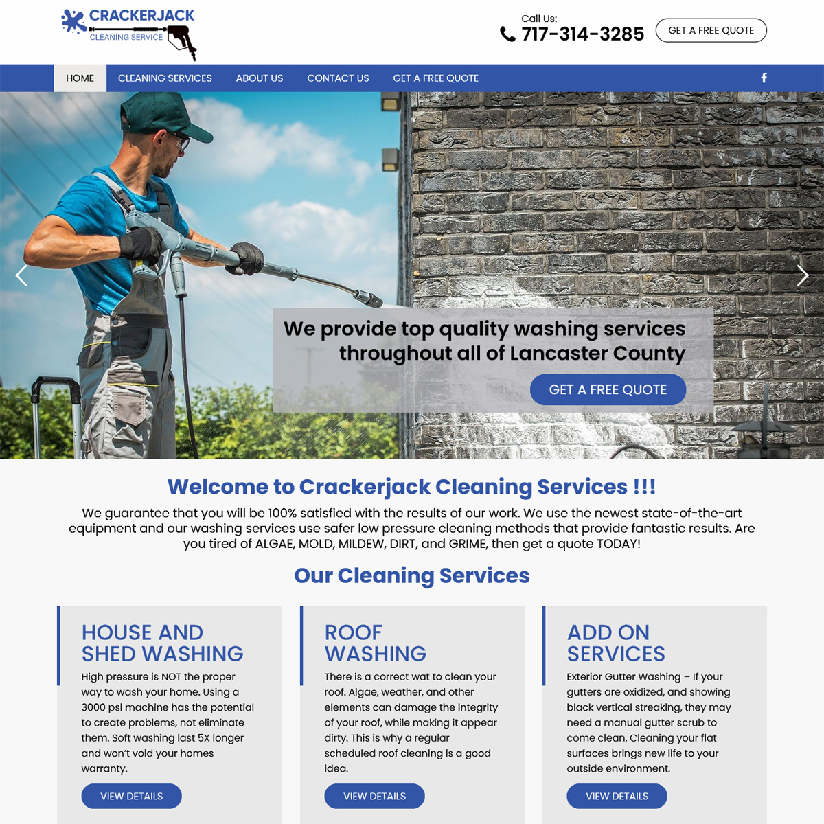 Powerwash Cleaning Service Website Design