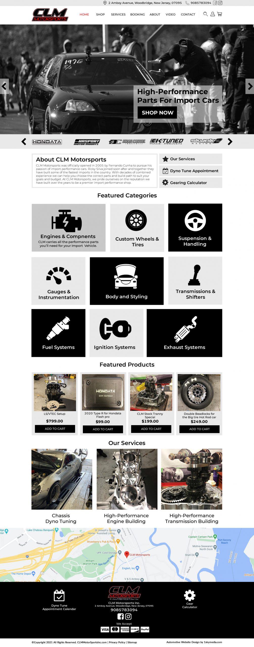 CLM MotorSports Website Design