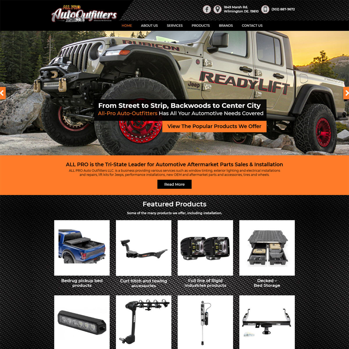 All Pro Auto Outfitters Website Design
