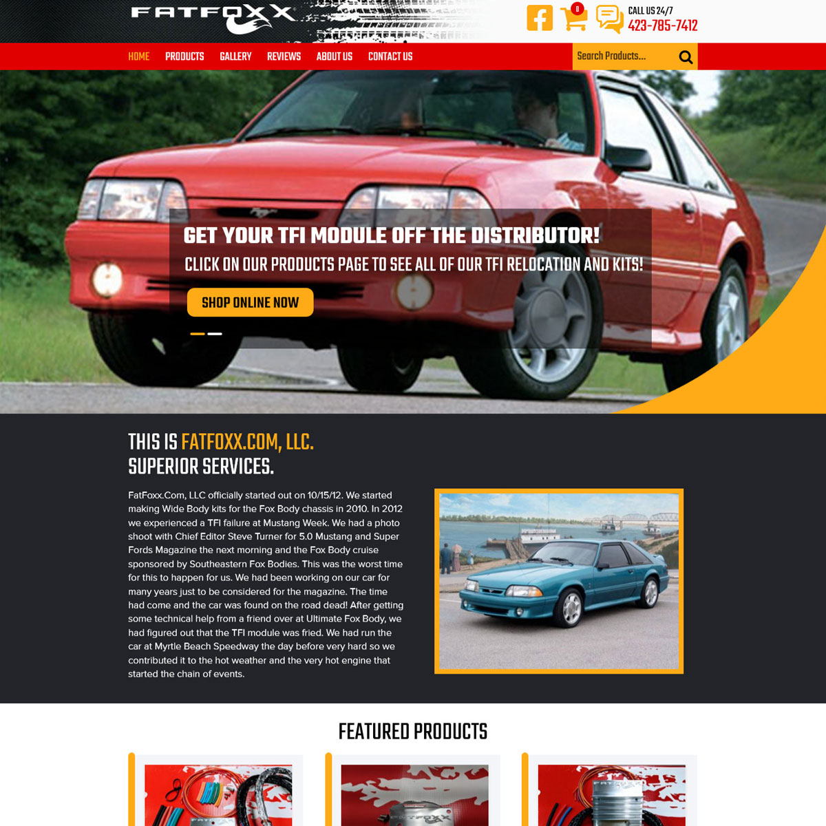 Fat Foxx LLC – Woocommerce Website Website Design